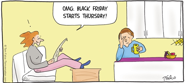 Image result for black friday cartoon