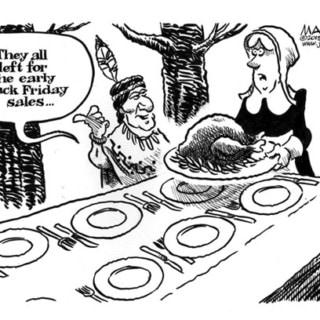 black friday thanksgiving cartoons