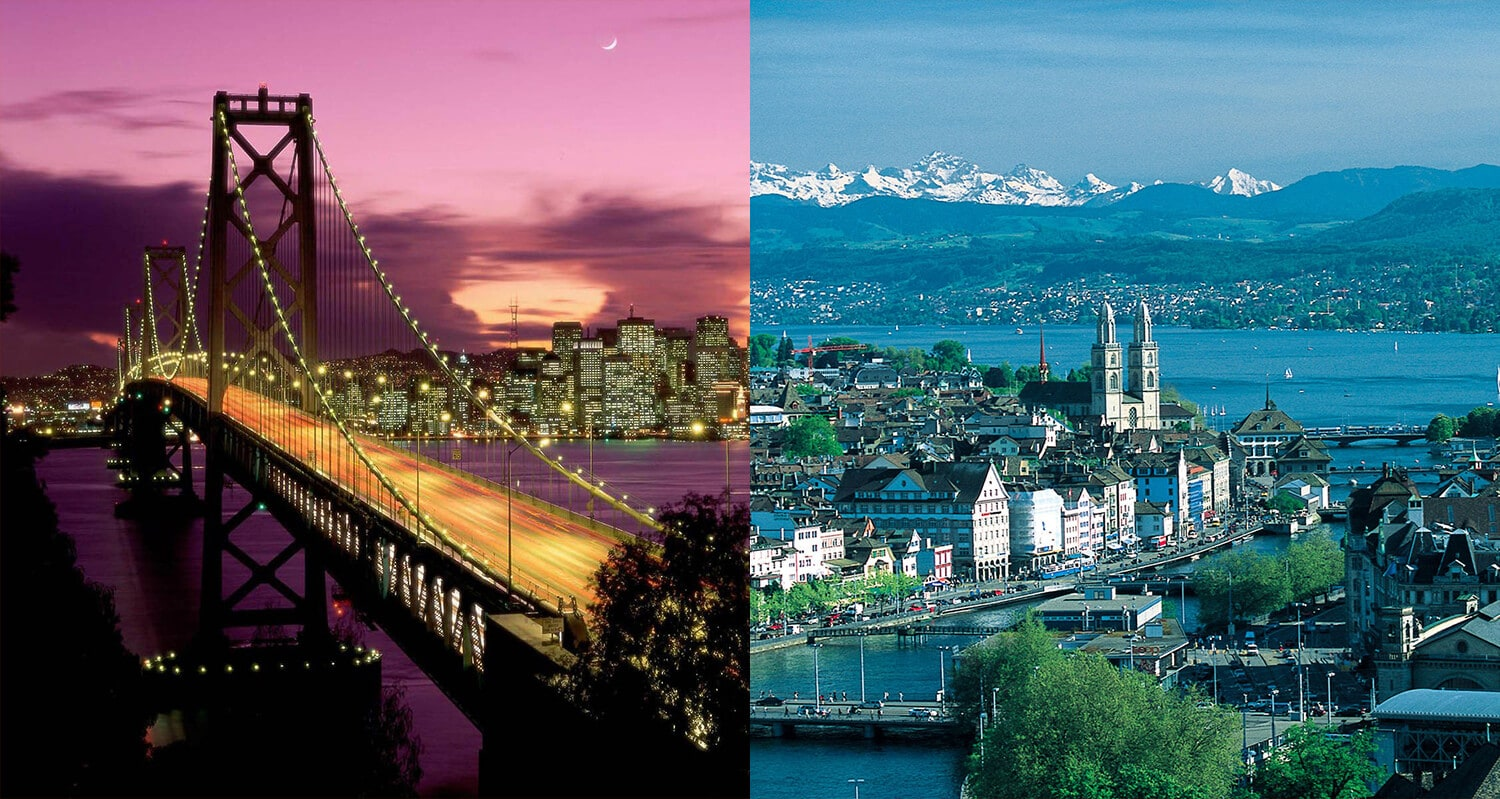San-Francisco-Zurich