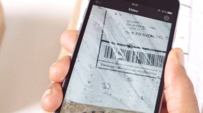 phone scanning barcode