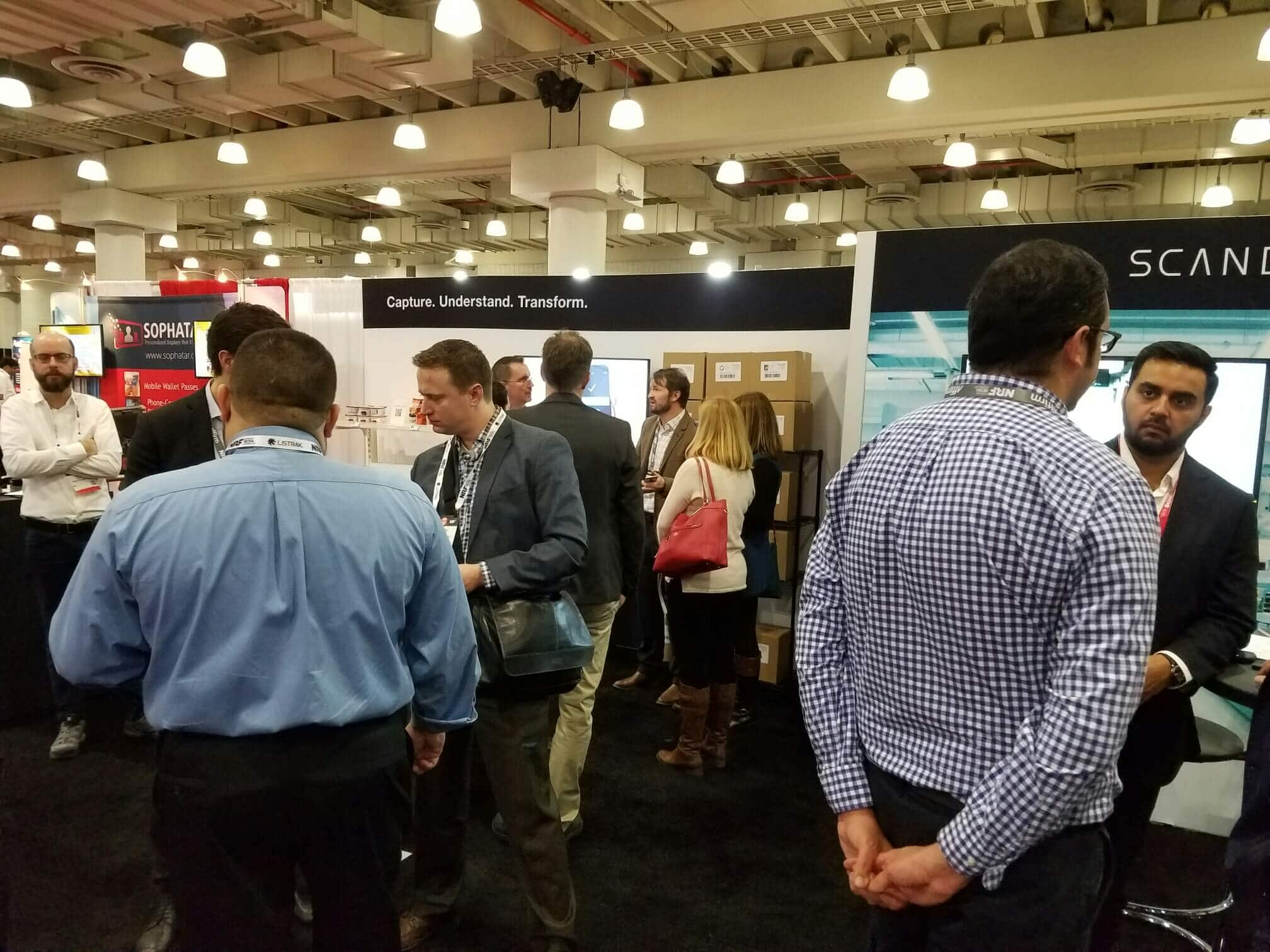 NRF booth 2017 crowd