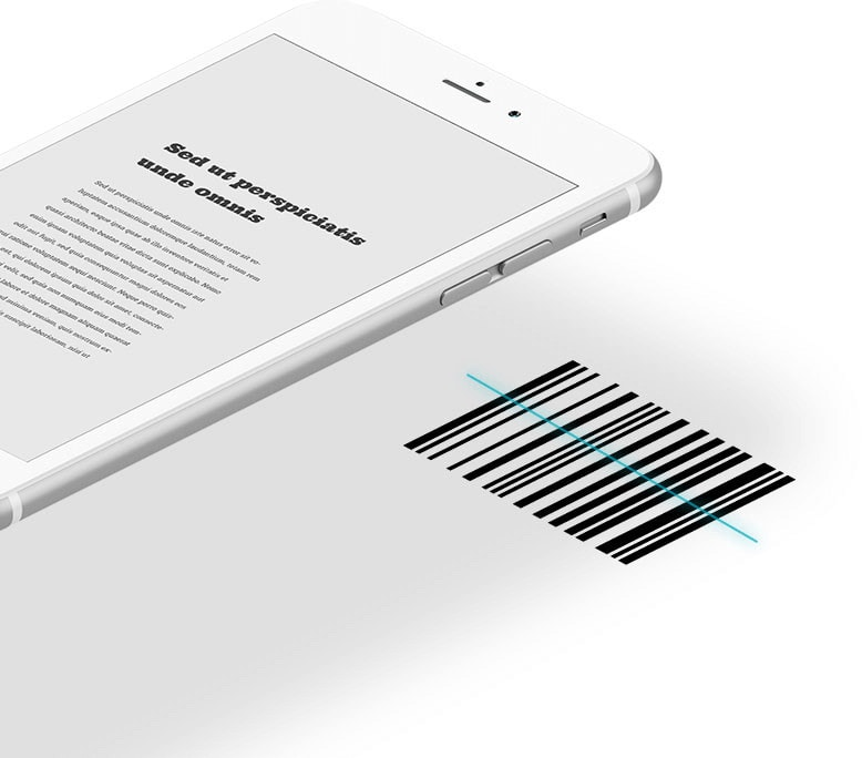 smartphone and barcode