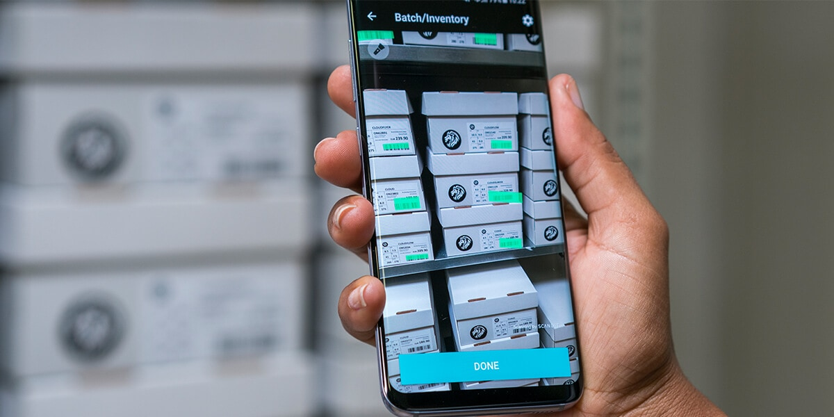 highlight barcodes on smartphone