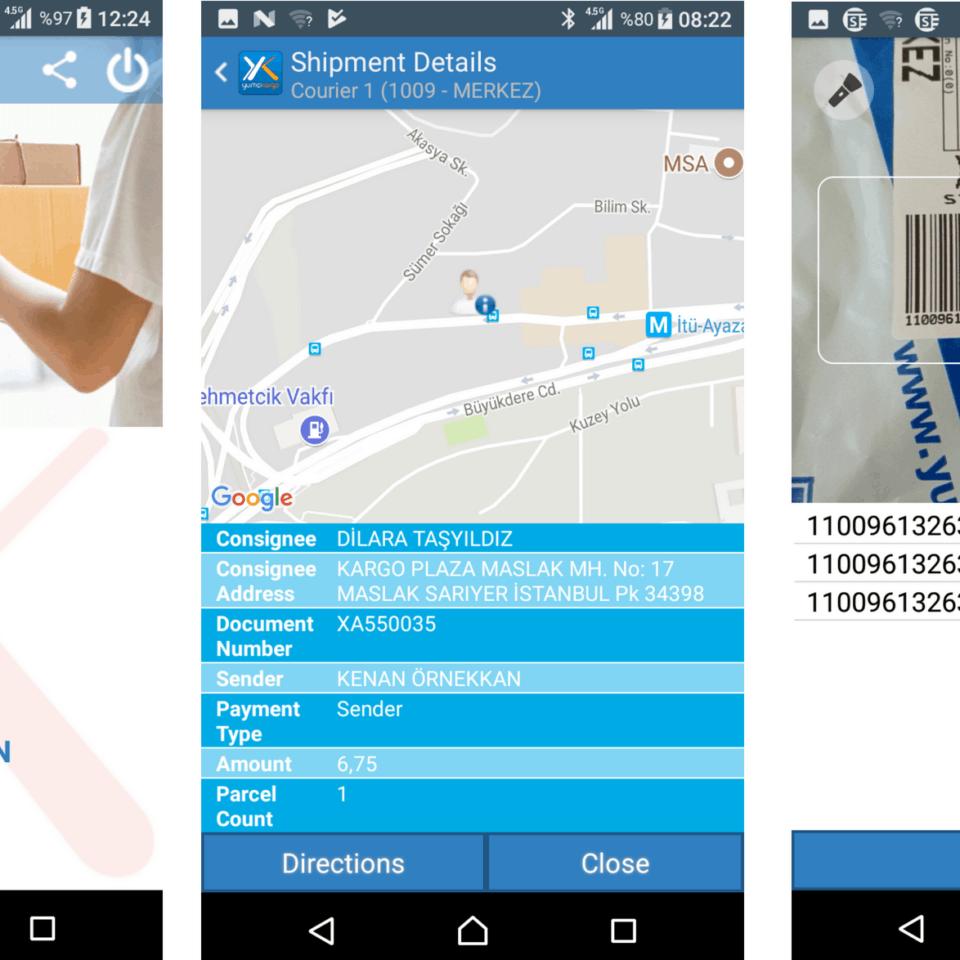 mobile phone screenshots