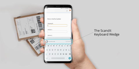 scandit keyboard wedge on android phone