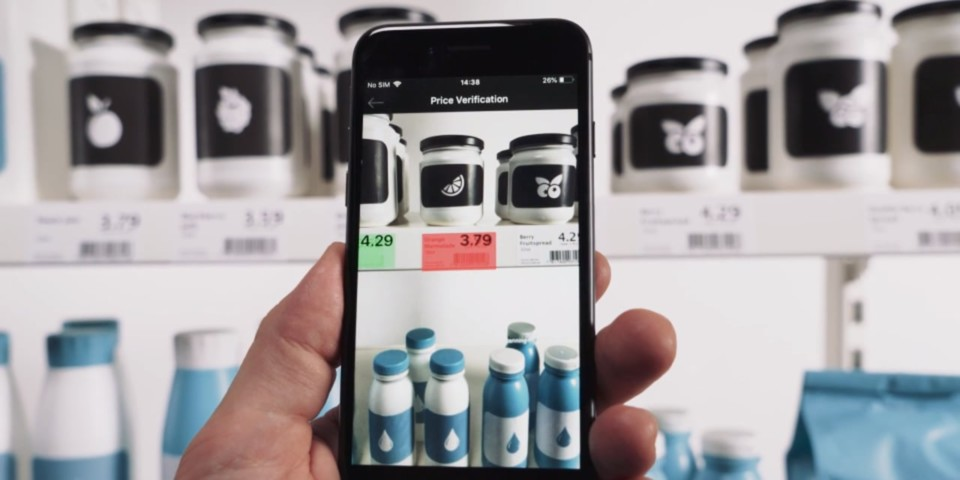 using smartphone to check product price