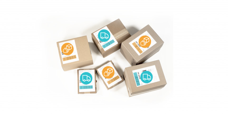boxes with highlighted barcodes