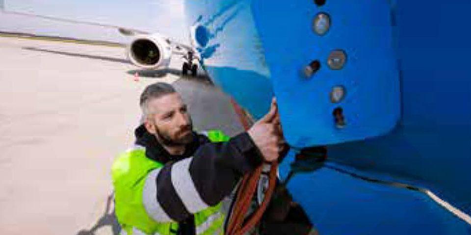 man working on flight maintenance