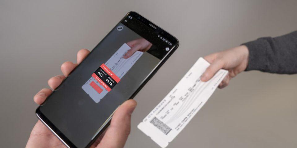 dotcode scan form ticket flight