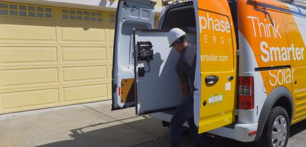 enphase employee delivering package
