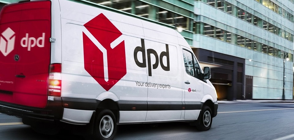 dpd car on the road