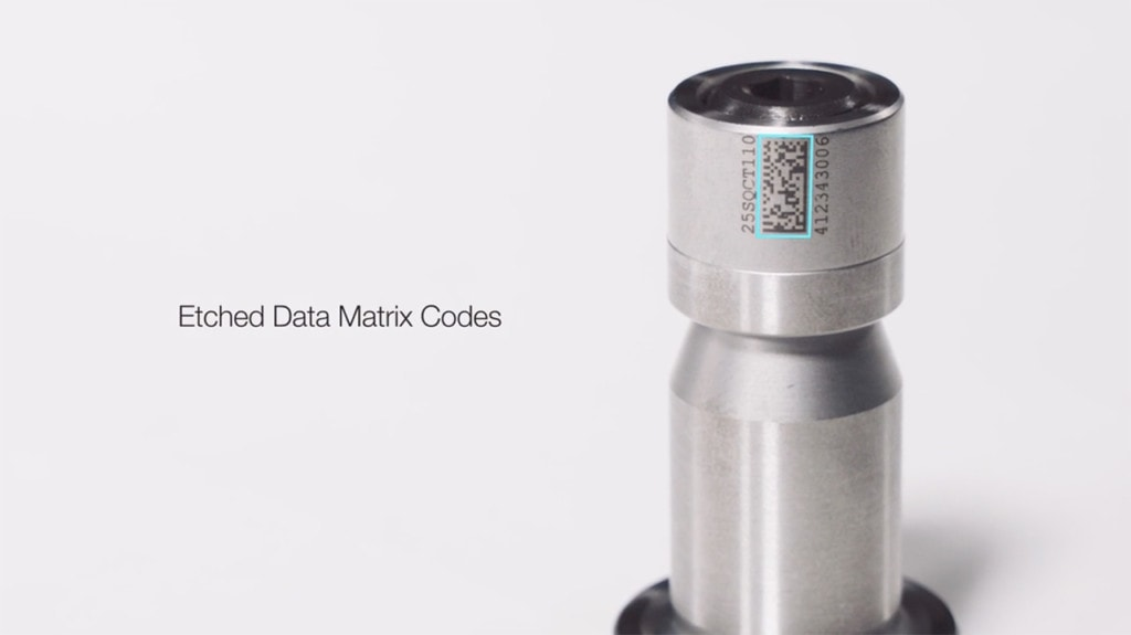 etched data matrix codes