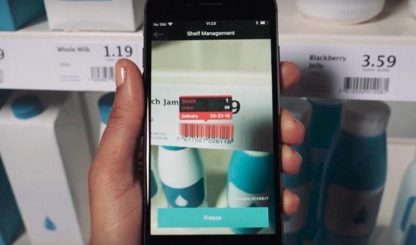 shelf management using smartphone
