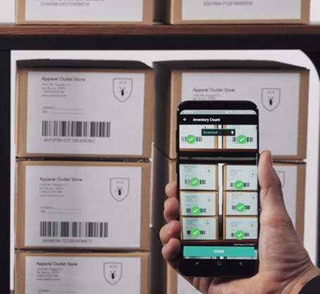 scan products for inventory counting
