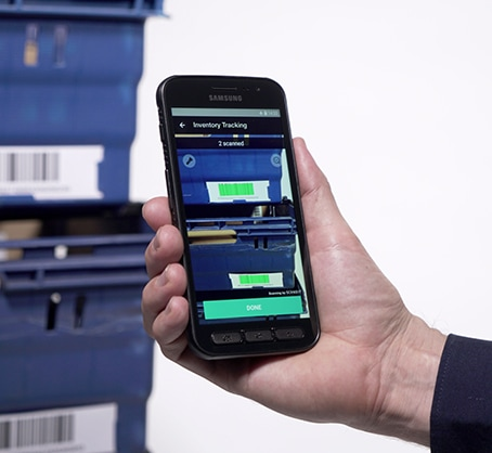 tracking parts with smartphone