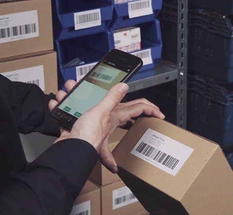 scan package with smartphone