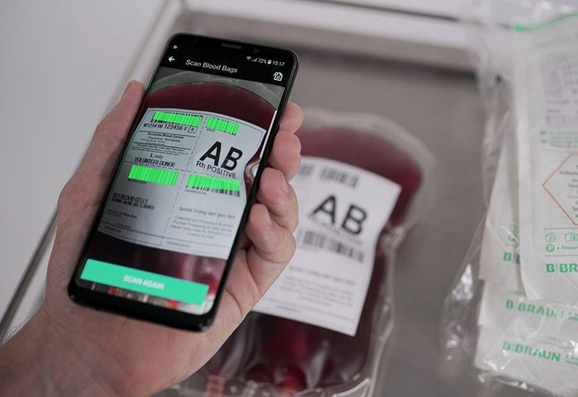 Blood bag scan multiple barcodes