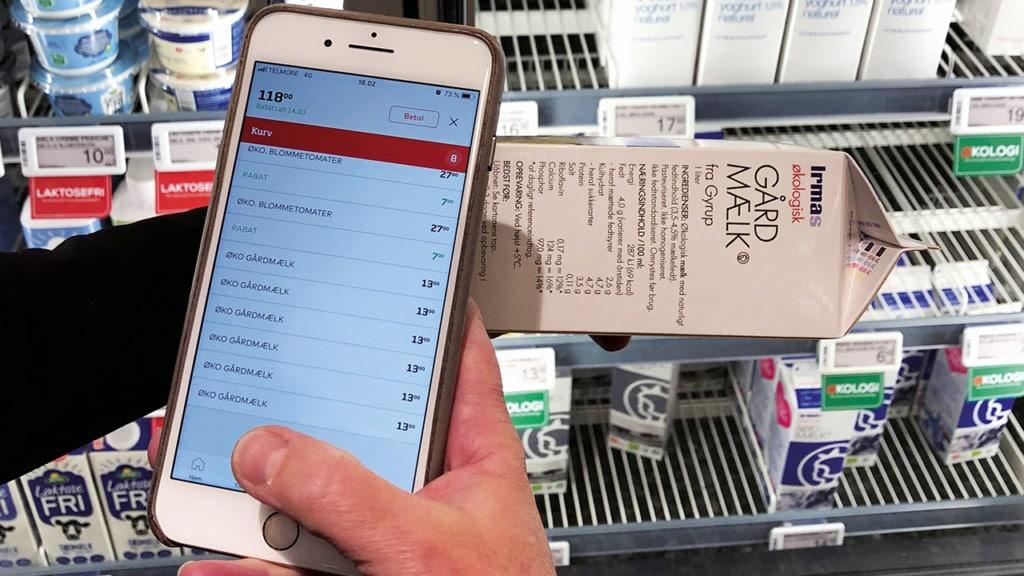 Mobile self-scanning Coop DK and Scandit