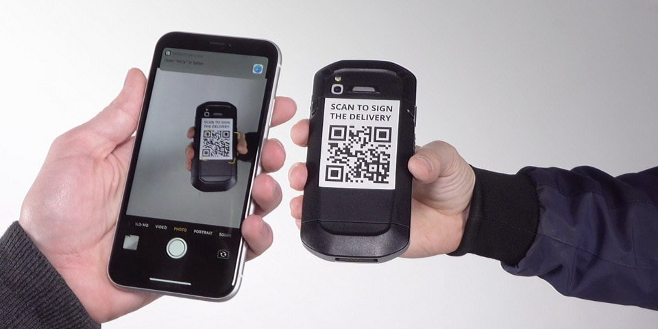 Contactless Proof of Delivery Web App on iOS devices