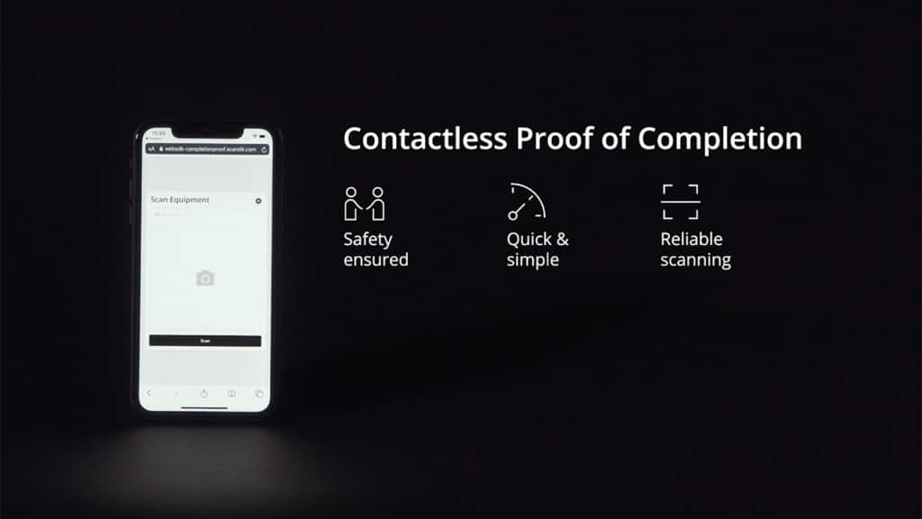 Quickly deploy contactless proof of completion