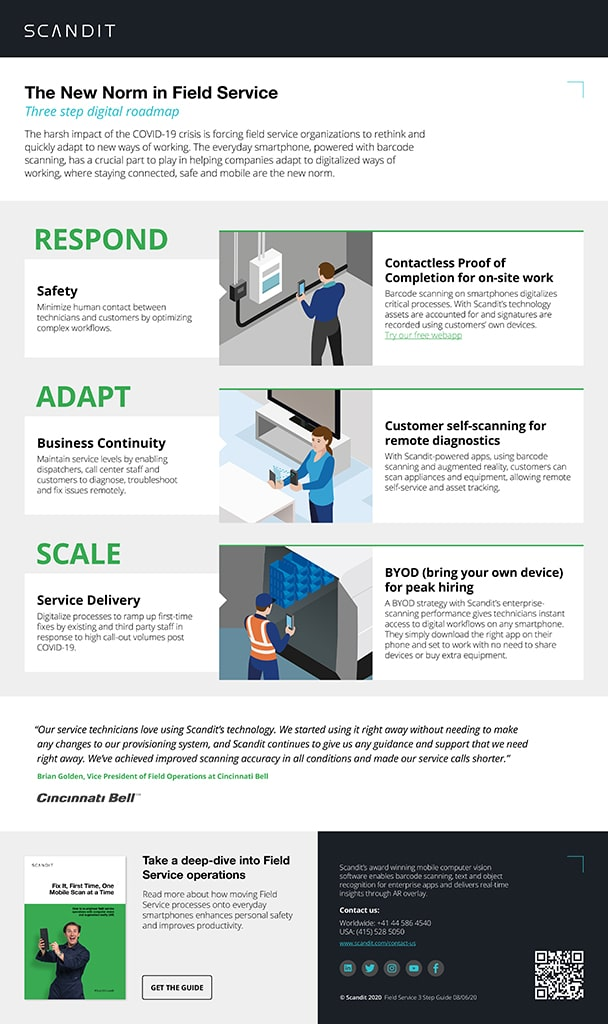 Three steps to the New Digital Norm in Field Services Infographic
