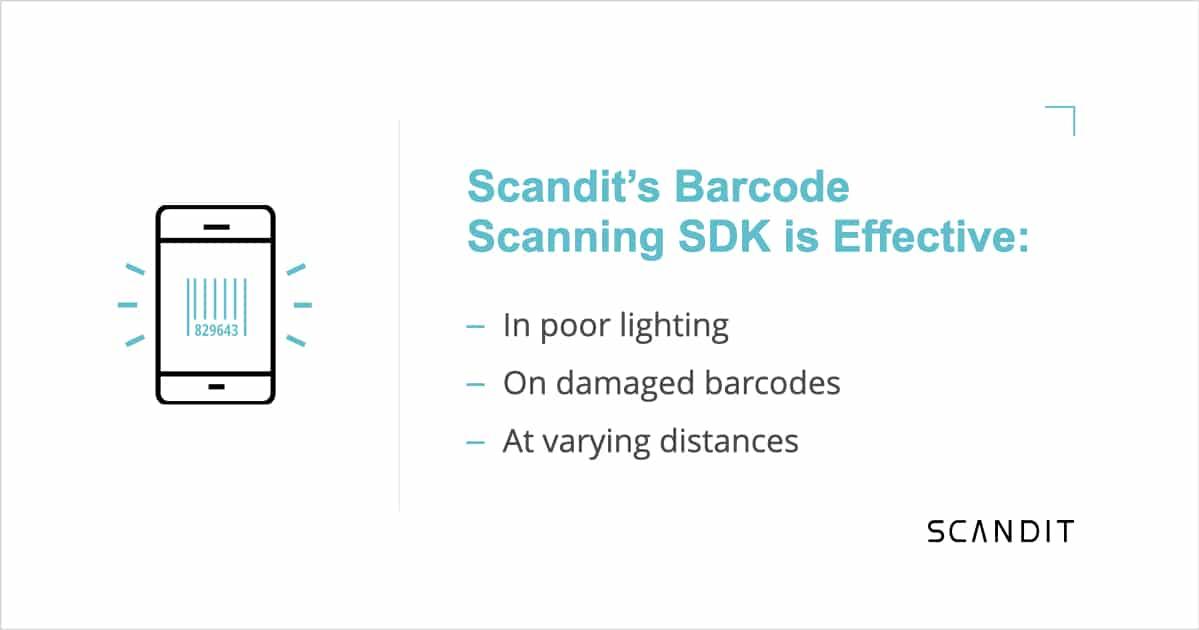 Scandit's Barcode Scanning SDK is effective