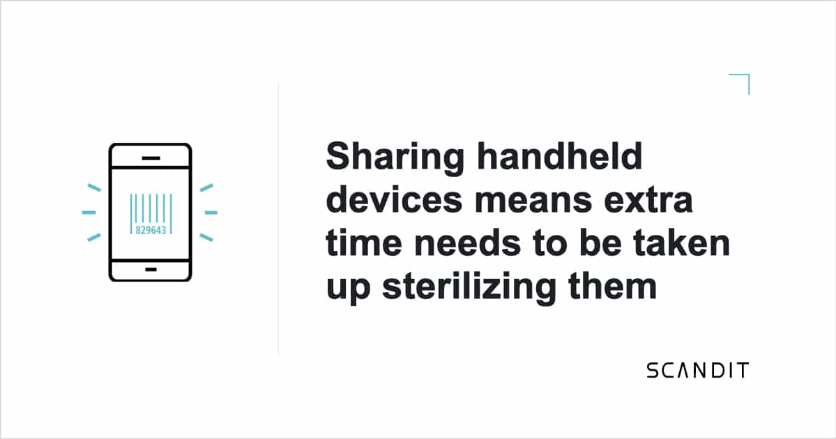 Sharing handheld devices means extra time needs to be taken up sterilizing them