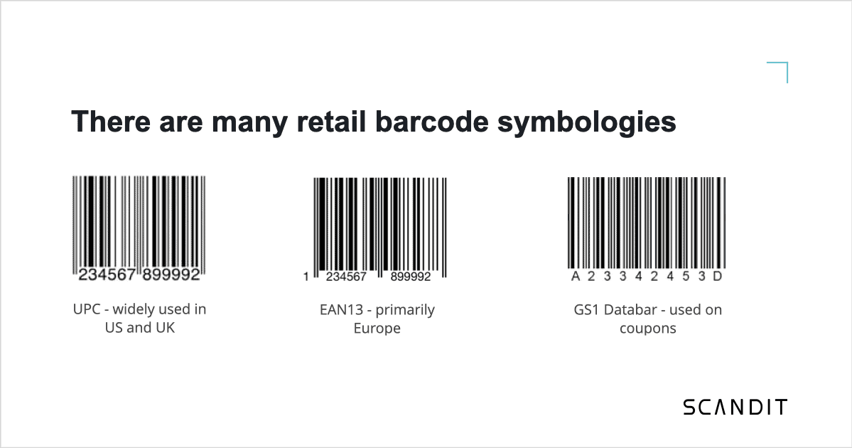 There are many retail barcode symbologies