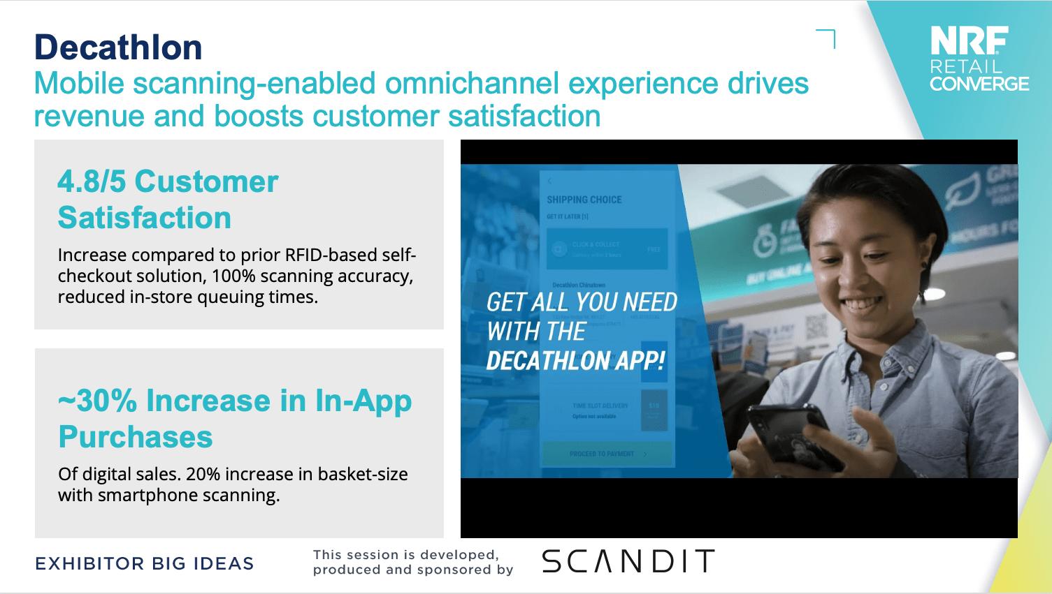 Scandit and Dechatlon success story at NRF Retail Converge 2021