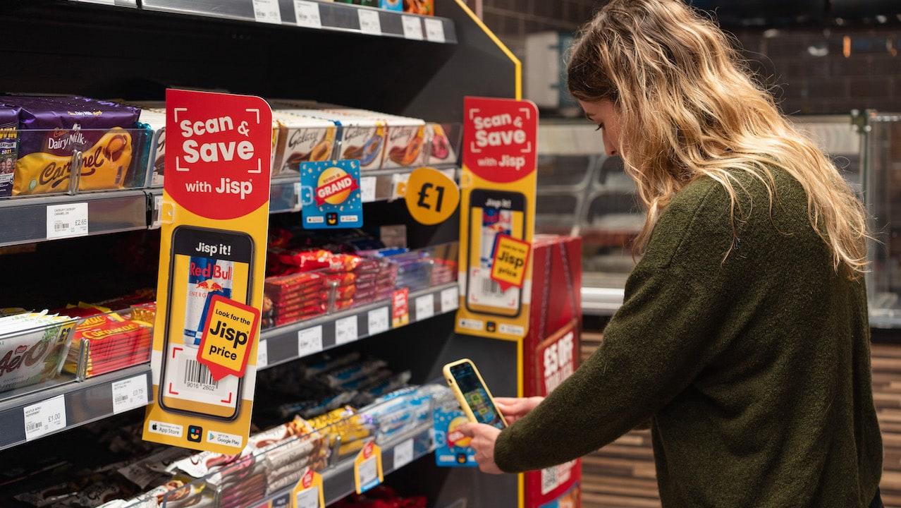 Jisp scan and save app used in store