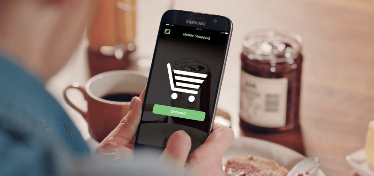 Mobile shopping on smartphone